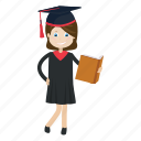 graduation, read, student, study icon