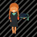 graduation, student, university icon