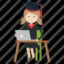 graduation, student, study icon