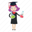 graduation, lab, student, study icon