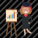 graduation, student, teach, teacher icon