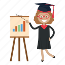 teach, graduation, student, teacher