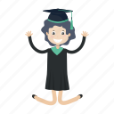 graduation, jump, learn, student