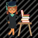 graduation, student, study, university icon