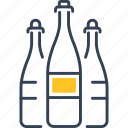 alcohol, bottle, drink, grape icon