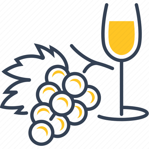 drink, food, glass, grape, wine icon