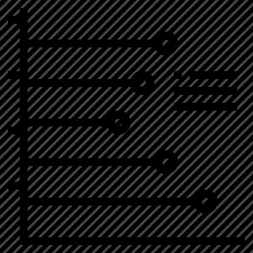 chart, graph, horizontal, line, stat, statistic icon