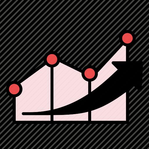 graph, increase, line graph icon