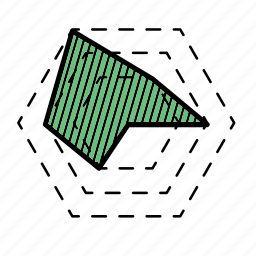 graph, hexagon graph icon