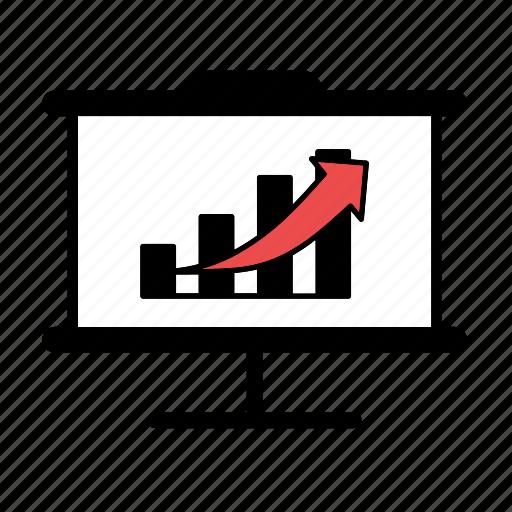 bar graph, graph, increase, presentation icon