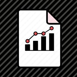 bar graph, correlation, file, graph, increase icon