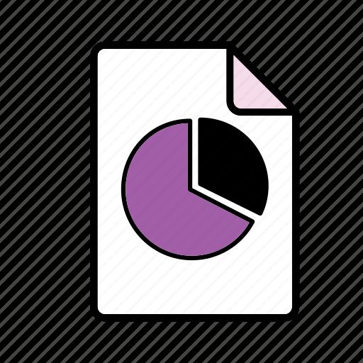 file, graph, pie chart icon