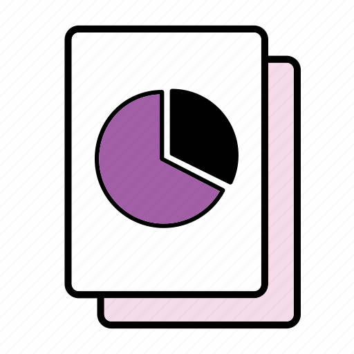 file, graph, pie chart icon