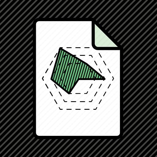 graph, hexagon graph icon