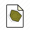 file, graph, hexagon graph icon