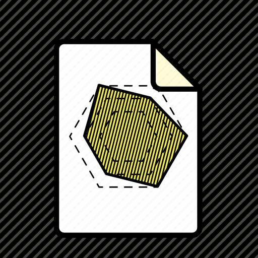 file, graph, hexagon graph icon