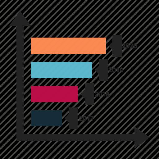 bar, chart, graph, graphic, progress icon