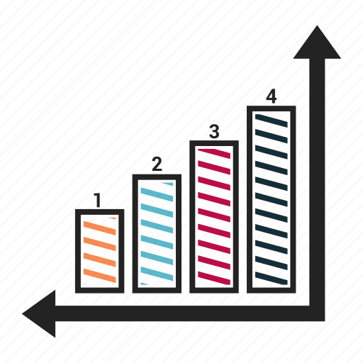 bar, chart, progress, report, result icon