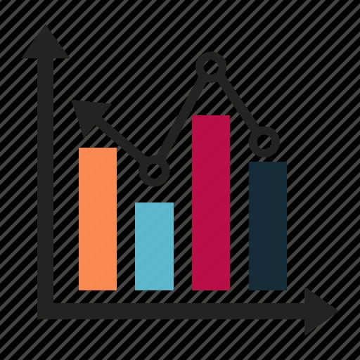 analytics, bar, chart, increase icon