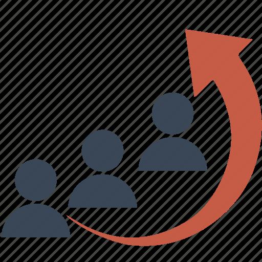 analysis, avatar, business, businessman, graph, growth, human, person, success, team icon