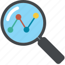 analytics, business, chart, circle, diagram, find, graph, loupe, monitoring, report, search, seo