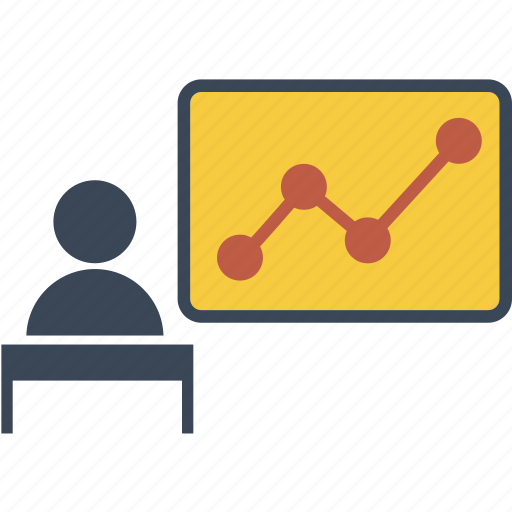 analysis, avatar, bord, business, businessman, education, graph, growth, human, people, person, screen, success icon