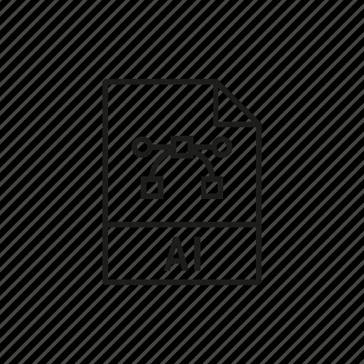 ai file, design, graphic, illustrator icon icon