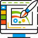 brush, creative, design, draw, graphic, illustration, paint icon