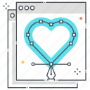 back end, heart, programmer, user experience, ux design, web site icon