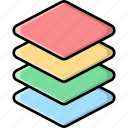 layers, arrange, stack