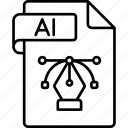 file, extension, ai, format
