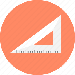angular, design, geometry, graphic, measure, straightedge, tool icon