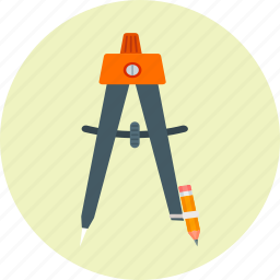 compass, design, drawing, geometry, graphic, shape, tool icon