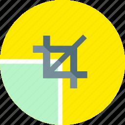 creative, crop, design, graphic, grid, line, shape icon