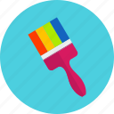 brush, colors, drawing, graphic, paint, tool, tools icon