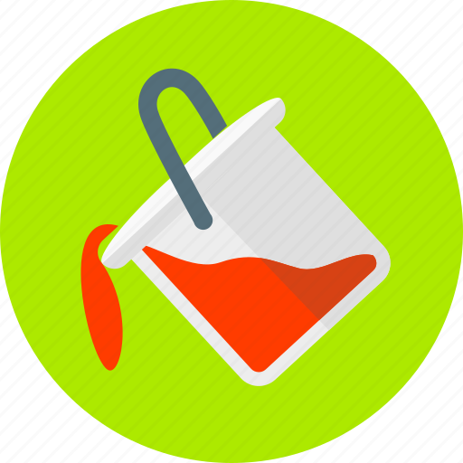 bucket, color, creative, design, graphic, paint, vessel icon