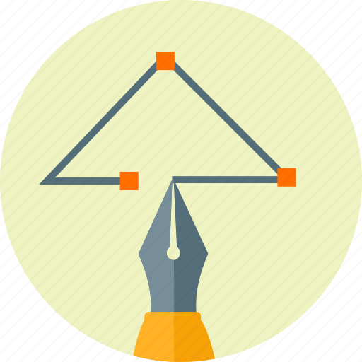 design, drawing, graphic, nib, pen, tool, triangular icon
