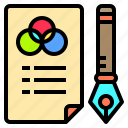 artist, computer, creativity, office, professional, sheet, technology icon