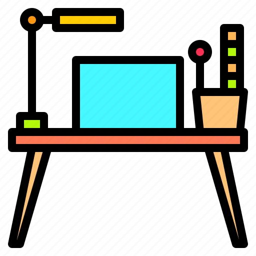 artist, computer, creativity, office, professional, table, technology icon