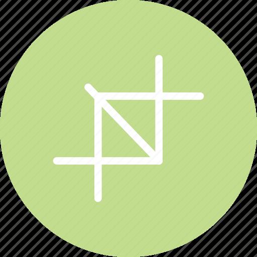 crop, crop image, crop photo, design, resize, resize image icon