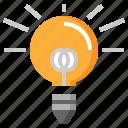 bulb, idea, illumination, invention, light, technology icon
