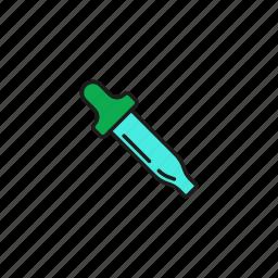 design, dropper, eye dropper, graphic, picker, pipette icon icon