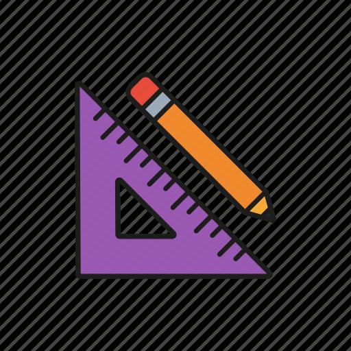 design, graphic, pen, ruler, tool icon