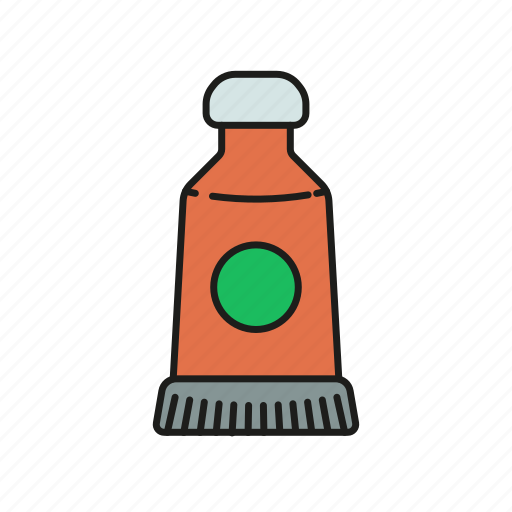 art, color, creative, graphic, paint, tube icon icon
