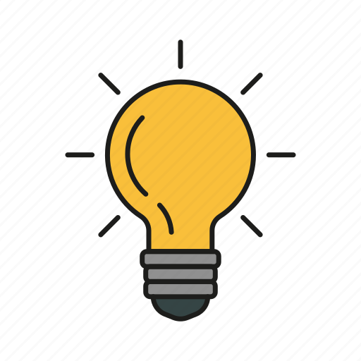 bulb, design, graphic, idea, lamp icon