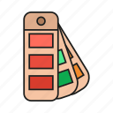 color, colors, design, fan, graphic, pallet, pantone icon icon