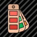 color, colors, design, fan, graphic, pallet, pantone icon