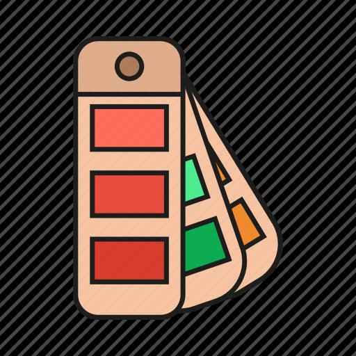 color, colors, design, fan, graphic, pallet, pantone icon icon
