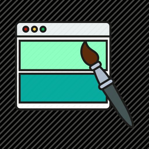 brush, design, graphic, page, web icon