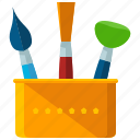 brushes, design, draw, graphic, tool icon